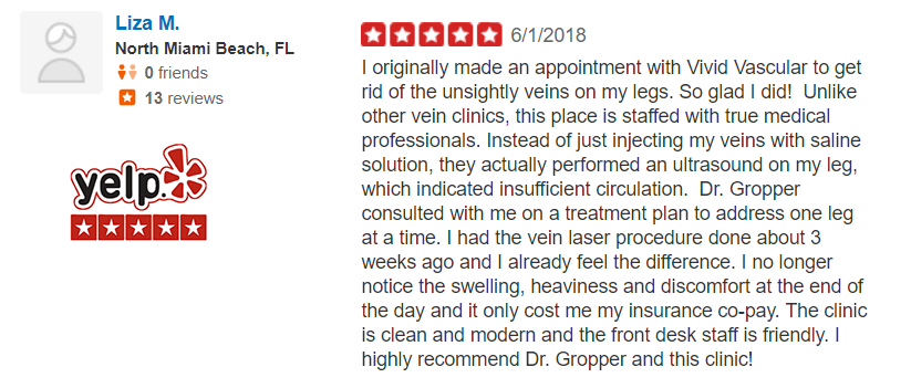 Dr Gropper Yelp Review